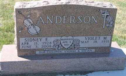 ANDERSON, VIOLET M. - Minnehaha County, South Dakota | VIOLET M. ANDERSON - South Dakota Gravestone Photos