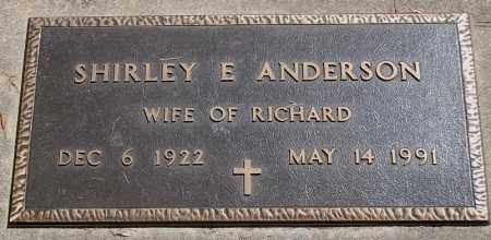 ANDERSON, SHIRLEY E. - Minnehaha County, South Dakota | SHIRLEY E. ANDERSON - South Dakota Gravestone Photos
