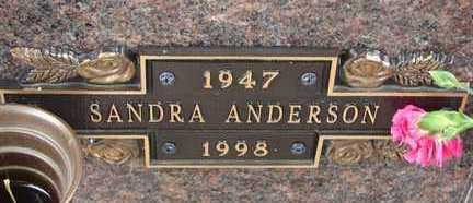 ANDERSON, SANDRA - Minnehaha County, South Dakota | SANDRA ANDERSON - South Dakota Gravestone Photos