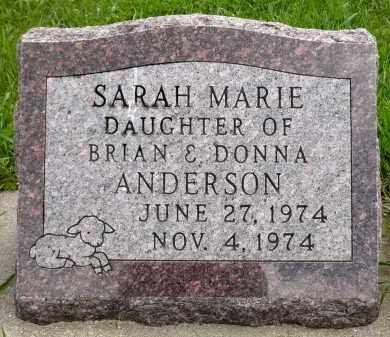 ANDERSON, SARAH MARIE - Minnehaha County, South Dakota | SARAH MARIE ANDERSON - South Dakota Gravestone Photos