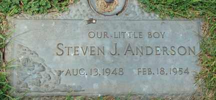 ANDERSON, STEVEN J. - Minnehaha County, South Dakota   STEVEN J. ANDERSON - South Dakota Gravestone Photos