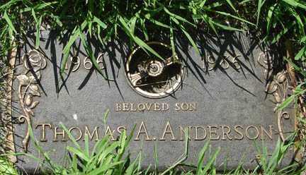 ANDERSON, THOMAS A. - Minnehaha County, South Dakota   THOMAS A. ANDERSON - South Dakota Gravestone Photos
