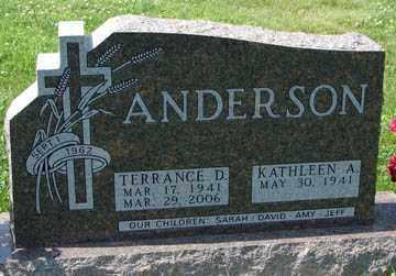 ANDERSON, TERRANCE D. - Minnehaha County, South Dakota | TERRANCE D. ANDERSON - South Dakota Gravestone Photos