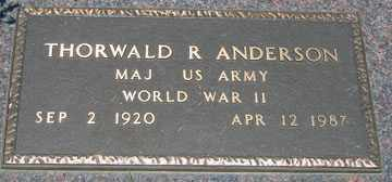 ANDERSON, THORWALD R. (WWII) - Minnehaha County, South Dakota   THORWALD R. (WWII) ANDERSON - South Dakota Gravestone Photos