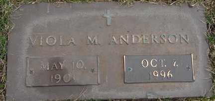 ANDERSON, VIOLA M. - Minnehaha County, South Dakota   VIOLA M. ANDERSON - South Dakota Gravestone Photos