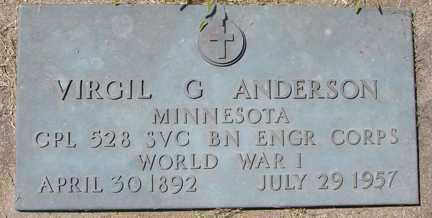 ANDERSON, VIRGIL G. (WWI) - Minnehaha County, South Dakota | VIRGIL G. (WWI) ANDERSON - South Dakota Gravestone Photos