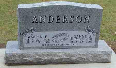 ANDERSON, WAVRIN - Minnehaha County, South Dakota | WAVRIN ANDERSON - South Dakota Gravestone Photos
