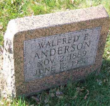 ANDERSON, WALFRED E. - Minnehaha County, South Dakota | WALFRED E. ANDERSON - South Dakota Gravestone Photos