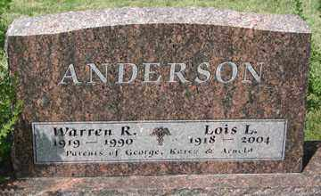 ANDERSON, WARREN R. - Minnehaha County, South Dakota   WARREN R. ANDERSON - South Dakota Gravestone Photos