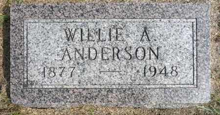 ANDERSON, WILLIE A. - Minnehaha County, South Dakota | WILLIE A. ANDERSON - South Dakota Gravestone Photos