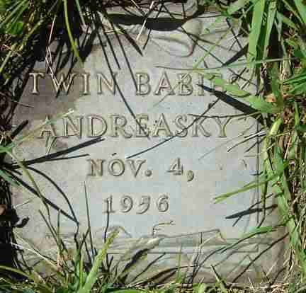 ANDREASKY, TWIN BABIES - Minnehaha County, South Dakota | TWIN BABIES ANDREASKY - South Dakota Gravestone Photos