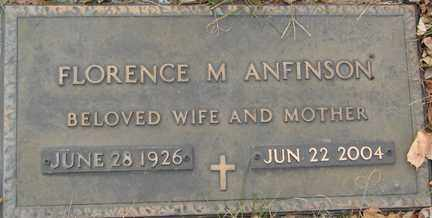 ANFINSON, FLORENCE M. - Minnehaha County, South Dakota | FLORENCE M. ANFINSON - South Dakota Gravestone Photos