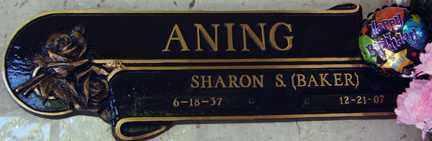BAKER ANING, SHARON S. - Minnehaha County, South Dakota   SHARON S. BAKER ANING - South Dakota Gravestone Photos