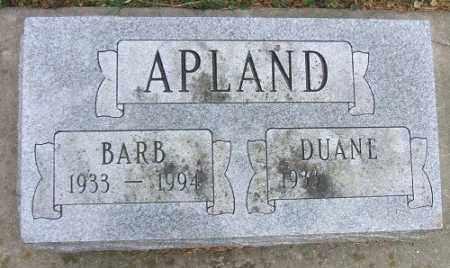 APLAND, BARB - Minnehaha County, South Dakota | BARB APLAND - South Dakota Gravestone Photos