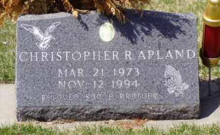 APLAND, CHRISTOPHER R. - Minnehaha County, South Dakota | CHRISTOPHER R. APLAND - South Dakota Gravestone Photos