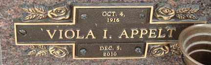 APPELT, VIOLA I. - Minnehaha County, South Dakota | VIOLA I. APPELT - South Dakota Gravestone Photos