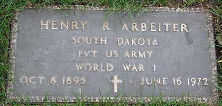 ARBEITER, HENRY R. - Minnehaha County, South Dakota   HENRY R. ARBEITER - South Dakota Gravestone Photos
