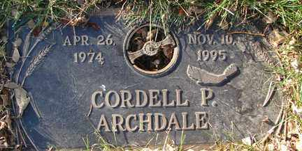 ARCHDALE, CORDELL P. - Minnehaha County, South Dakota | CORDELL P. ARCHDALE - South Dakota Gravestone Photos