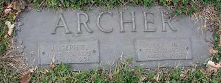 ARCHER, JOESPH TAYLOR - Minnehaha County, South Dakota | JOESPH TAYLOR ARCHER - South Dakota Gravestone Photos