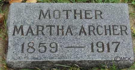 ARCHER, MARTHA - Minnehaha County, South Dakota | MARTHA ARCHER - South Dakota Gravestone Photos
