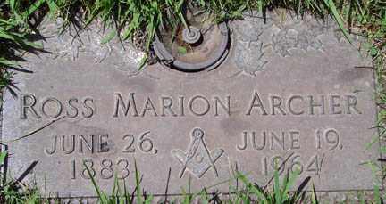 ARCHER, ROSS MARION - Minnehaha County, South Dakota   ROSS MARION ARCHER - South Dakota Gravestone Photos