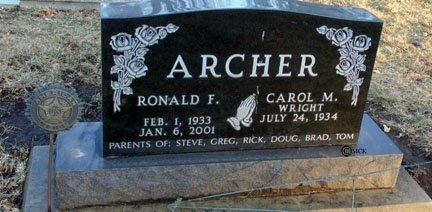 WRIGHT ARCHER, CAROL M. - Minnehaha County, South Dakota | CAROL M. WRIGHT ARCHER - South Dakota Gravestone Photos