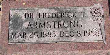 ARMSTRONG, FREDERICK T. - Minnehaha County, South Dakota | FREDERICK T. ARMSTRONG - South Dakota Gravestone Photos