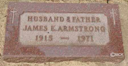 ARMSTRONG, JAMES E. - Minnehaha County, South Dakota | JAMES E. ARMSTRONG - South Dakota Gravestone Photos