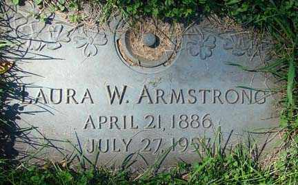ARMSTRONG, LAURA W. - Minnehaha County, South Dakota | LAURA W. ARMSTRONG - South Dakota Gravestone Photos