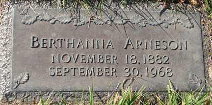 ARNESON, BERTHANNA - Minnehaha County, South Dakota | BERTHANNA ARNESON - South Dakota Gravestone Photos
