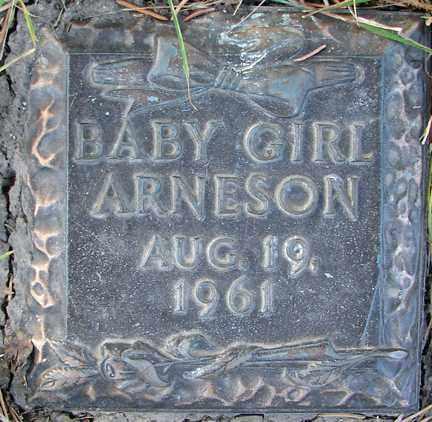 ARNESON, INFANT GIRL - Minnehaha County, South Dakota   INFANT GIRL ARNESON - South Dakota Gravestone Photos