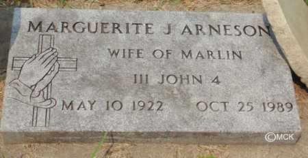 ARNESON, MARGUERITE J. - Minnehaha County, South Dakota   MARGUERITE J. ARNESON - South Dakota Gravestone Photos