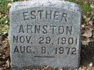 ARNSTON, ESTHER - Minnehaha County, South Dakota | ESTHER ARNSTON - South Dakota Gravestone Photos