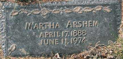 ARSHEM, MARTHA - Minnehaha County, South Dakota   MARTHA ARSHEM - South Dakota Gravestone Photos