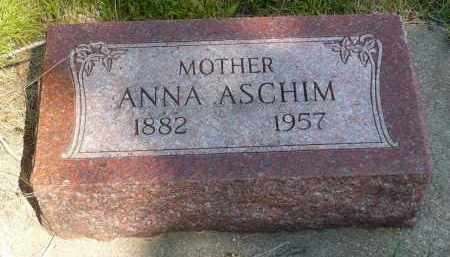 ASCHIM, ANNA - Minnehaha County, South Dakota   ANNA ASCHIM - South Dakota Gravestone Photos