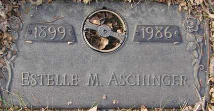 ASCHINGER, ESTELLE M. - Minnehaha County, South Dakota | ESTELLE M. ASCHINGER - South Dakota Gravestone Photos