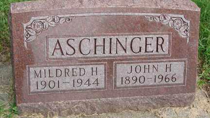 ASCHINGER, JOHN H. - Minnehaha County, South Dakota | JOHN H. ASCHINGER - South Dakota Gravestone Photos