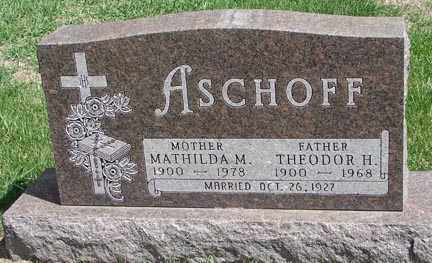 ASCHOFF, MATHILDA M. - Minnehaha County, South Dakota | MATHILDA M. ASCHOFF - South Dakota Gravestone Photos