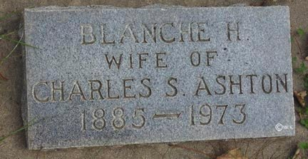 ASHTON, BLANCHE H. - Minnehaha County, South Dakota | BLANCHE H. ASHTON - South Dakota Gravestone Photos