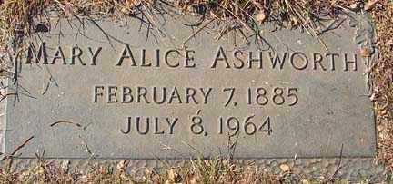 ASHWORTH, MARY ALICE - Minnehaha County, South Dakota   MARY ALICE ASHWORTH - South Dakota Gravestone Photos