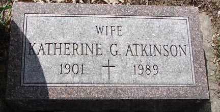 ATKINSON, KATHERINE  G. - Minnehaha County, South Dakota | KATHERINE  G. ATKINSON - South Dakota Gravestone Photos