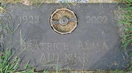 AULNER, BEATRICE ALMA - Minnehaha County, South Dakota | BEATRICE ALMA AULNER - South Dakota Gravestone Photos