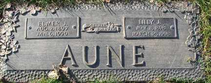 AUNE, LILLY J. - Minnehaha County, South Dakota | LILLY J. AUNE - South Dakota Gravestone Photos