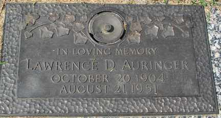 AURINGER, LAWRENCE D. - Minnehaha County, South Dakota | LAWRENCE D. AURINGER - South Dakota Gravestone Photos