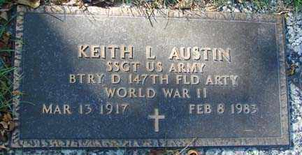 AUSTIN, KEITH L. - Minnehaha County, South Dakota | KEITH L. AUSTIN - South Dakota Gravestone Photos
