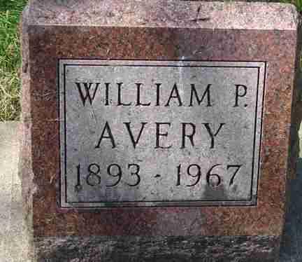 AVERY, WILLIAM P. - Minnehaha County, South Dakota | WILLIAM P. AVERY - South Dakota Gravestone Photos