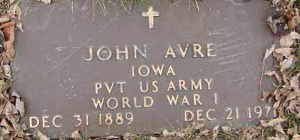 AVRE, JOHN (WWI) - Minnehaha County, South Dakota | JOHN (WWI) AVRE - South Dakota Gravestone Photos