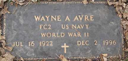 AVRE, WAYNE A. (WWII) - Minnehaha County, South Dakota | WAYNE A. (WWII) AVRE - South Dakota Gravestone Photos