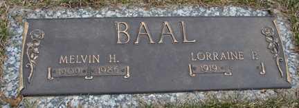 BAAL, MELVIN H. - Minnehaha County, South Dakota | MELVIN H. BAAL - South Dakota Gravestone Photos