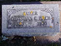 BACH, CHRISTIAN C. - Minnehaha County, South Dakota | CHRISTIAN C. BACH - South Dakota Gravestone Photos